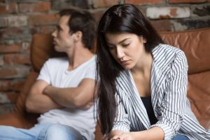 Couple considering their bad relationship
