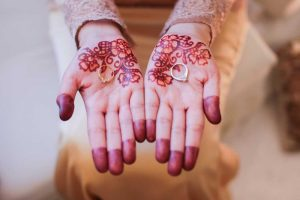 Islamic woman's hands at a wedding