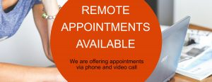 Remote appointments available