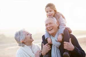 Grandparents with grandchild