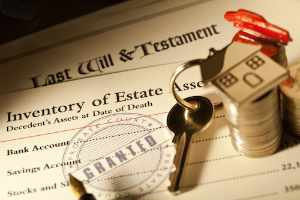 Picture of estate assessment & house key