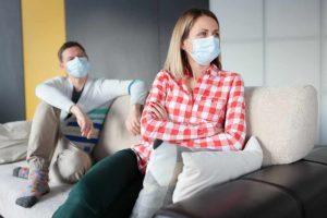 couple separating during coronavirus lockdown